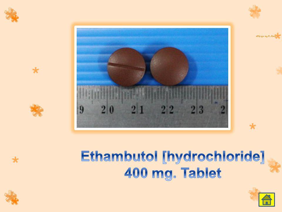 Ethambutol [hydrochloride] 400 mg. Tablet